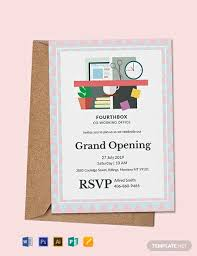 Free Grand Opening Invitation Card Template Download 637