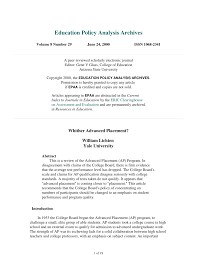Pdf Whither Advanced Placement