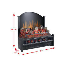 pleasant hearth electric insert with heater electric log canada