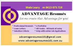 recent evaluation of advantage resumes 101 cover letter selection criteria