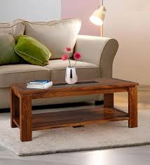 leopold solidwood center table in walnut black finish by hometown