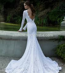 long sleeve sheer wedding gowns sheer lace sexy crew