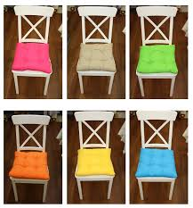 chair cushions with ties. Selection Of Colourful Chair Cushions In Various Colours With Ties E