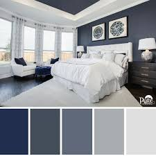 great bedroom colors. this bedroom design has the right idea. rich blue color palette and decor create great colors o