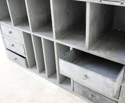 large wooden pigeon hole storage cabinet vintage industrial style 3028