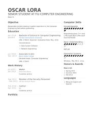 Waiter Resume Extraordinary Waiter Resume Samples VisualCV Resume Samples Database Resume