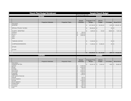 budgets sample samples of budget spreadsheets natural buff dog