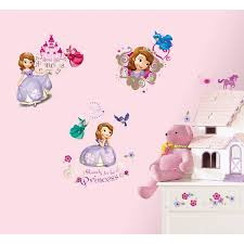Sofia The First Bedroom Decor Walltastic Disney Sofia The First Room Decor Kits Multi Colour