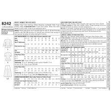 Misses Size Chart 31 Rigorous Simplicity Patterns Size Chart