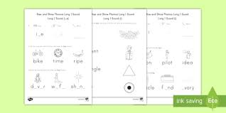 Read through each list to find. Long I Sound Rise And Shine Phonics Worksheets Ela Twinkl