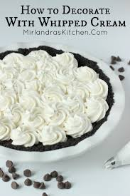 How To Decorate With Whipped Cream Mirlandras Kitchen