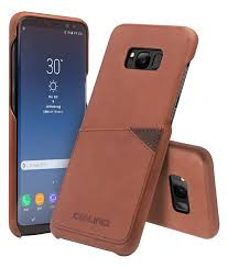 samsung galaxy s8 s8 leather back case with card holder light brown