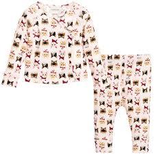 gucci 2 piece. gucci - girls pink \u0027cat\u0027 print 2 piece babygrow boxed set   childrensalon outlet o
