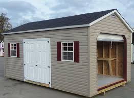 garage door for shedVinyl Storage Sheds  Leonard Buildings  Truck Accessories