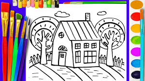 coloring page for kids house coloring book for children to learn colouring videos