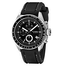 men s watches designer and swiss watches ernest jones fossil decker men s chronograph black silicone strap watch product number 2050994