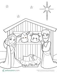 You can download printable coloring pages from this website for free, to help us do visit our sponsors to keep us running. Nativity Coloring Pages Education Com