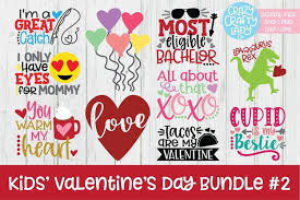 .free vector valentines day card background beautiful heart stylish valentines day card design free vector we have about (18,351 files) free vector in ai, eps, cdr, svg vector illustration graphic. Kids Valentine S Day Svg Dxf Eps Png Cut File Bundle 2 179979 Cut Files Design Bundles