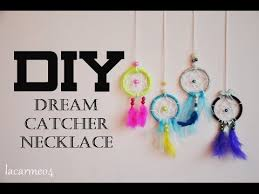 How To Make Your Own Dream Catcher Necklace Extraordinary DIYdea Dream Catcher Necklace Lacarmeo32 YouTube