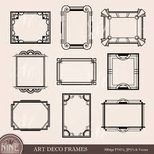 ART DECO FRAME Clip Art Art Deco Clipart Frames Design Elements