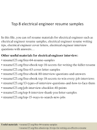 top8electricalengineerresumesamples 150425015906 conversion gate02 thumbnail 4 jpg cb 1429945188