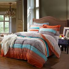 orange and brown bedding. Exellent Brown Romantic Orange Bedding   Orange And White Contemporary Cute Style  Romantic Warm Stripe Beddingcould Be Used As A Transitional Southwestern Decor On And Brown Bedding