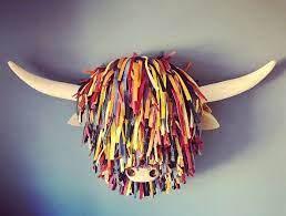 animal heads on wall