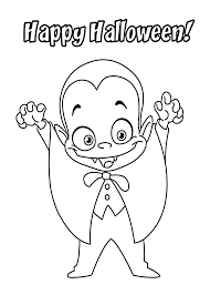Halloween Little Funny Vampire Coloring Page