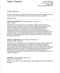 Production Manager Resume 19 Old Version
