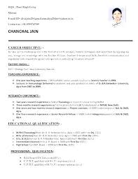 Teaching Resume Template – Lespa