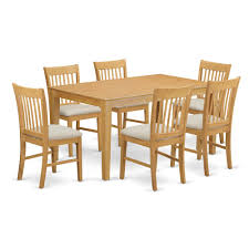 7 Pc Small Kitchen Table Set Dining Table And 6 Dining Chairs
