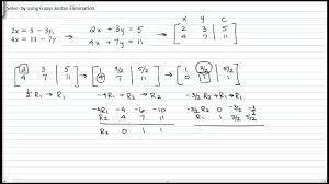 solving 2 variable system of equation using gauss jordan elimination
