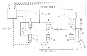 patent us accurate fluid operated cylinder positioning patent drawing