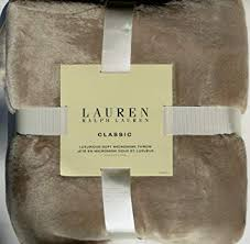 Ralph Lauren Plush Throw Blanket