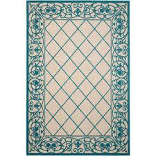nourison aloha aqua 8 ft x 11 ft indoor outdoor area rug