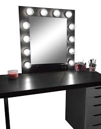 makeup lighting for vanity table. hollywood vanity makeup mirror with lights built in digital led dimmer and power outlet lighting for table