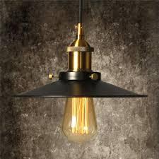 Light Bulb Lamp Shade Holder Vintage Pendant Light Kit Elfeland Antique Industrial Ceiling Loft Lamp Black Metal Lamp Shade Hanging Retro Chandelier E27 Lamp Holder Ceramic