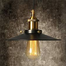 vintage pendant light kit elfeland antique industrial ceiling loft lamp black metal lamp shade