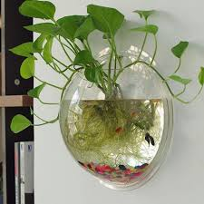 Decorative Fish Bowls Home Decoration Creative Wall Hanger Acrylic Hanging Mini Fish 14