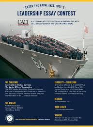 leadership essay contest u s naval institute a u s naval institute program in partnership dr j phillip london and caci international