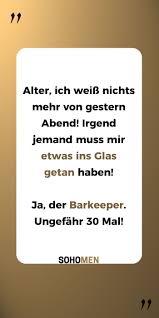 Lustige Sprüche Lustig Witzig Funny Hangover Barkeeper Drinks