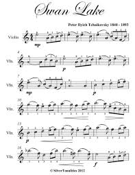 Free easy violin sheet music with piano accompaniment for advancing students. Swan Lake Theme Easy Violin Sheet Music By Peter Ilyich Tchaikovsky 1840 1893 Digital Sheet Music For Download Print S0 140547 Sheet Music Plus