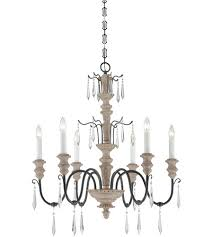 savoy house 1 4340 6 192 madeliane 6 light 28 inch distressed white wood and iron chandelier ceiling light