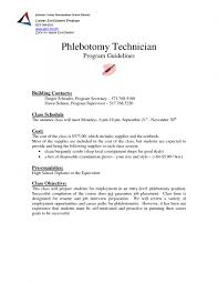 Entry Level Phlebotomy Cover Letter Sample Cover Letter Example