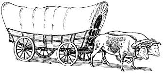 black and white covered wagon. black and white covered wagon l