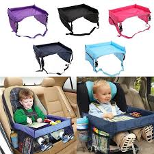 2019 baby toddlers car safety belt travel play tray waterproof folding table baby car seat cover harness buggy pushchair snack bba187 from liangjingjing no1