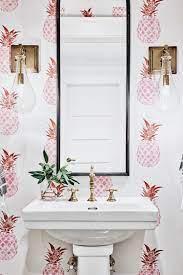 Powder room wallpaper ...