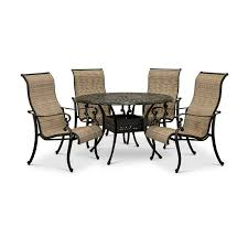 traditional 5 piece patio set with