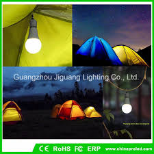 China Outdoor Emergency Bulb 9w Camping Lamp With Portable Led