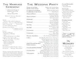 Ceremony Template Wedding Party Program Template Bridal Shower Sample P Sample